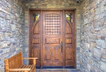 Doors / Front Door Options are endless when it comes to custom building your own home.  Here are some of our favorites!
