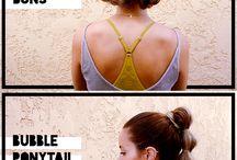 Sport hairstyles