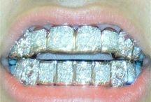 Diamond Platin Teeth Grillz