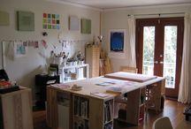 Art Studios Materials / Art studios, artist workspaces, studio walls inspiration boards & art materials