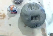 Family workshop Clay Head 8.8.14 / Inspired by the great Garman Ryan Collection and specifically the bronze portraits by Jacob Epstein, family today made their own clay heads taking a staff member as their model.  Can you tell who it is?