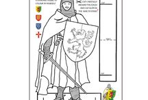 Knights Trail Lincoln 1217-2017 / Cards and Gifts commemorating the 800th anniversary of the 2nd Battle of Lincoln on 20th May 1217 from original drawings by artist Kay Burton. Featuring William Marshal  the Greatest Knight