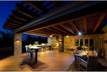 Extraordinary Outdoor Entertaining / A perfect outdoor entertaining space requires seating and gathering spaces, a cooking area and protection from the elements. This deck has all of these features and our clients love this place.  Find us at http://coloradodecks.com