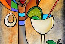 Artă picturi textile