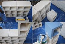 cement block furniture