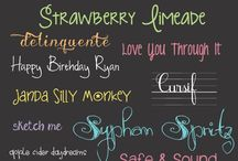Fonts / by Stitch and Sparkle