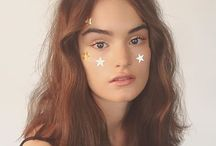 look 2 - bodysuit, wet hair, baby oil and stars