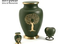 Green Cremation Urns / Terrybear products are available at your local funeral home.