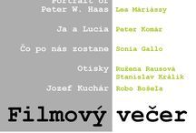 FILMOVÝ VEČER - 27.5.2017 o 18:00