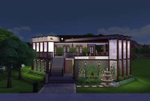 The Sim Stone Mansion / The Sims 4, Houses