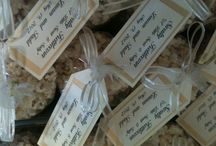Wedding Favors / The wedding colors for this bride and groom were gold and cream! A perfect addition to their welcome bags in the hotel rooms of their out-of-town guests!