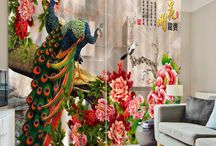 3D Animal Print Curtains