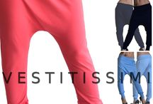 Pantaloni donna cavallo basso tuta fitness harem