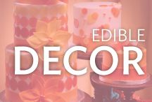 Edible Decorations / Edible cake decorations make your celebration extra special. Show off your creativity by using fondant dots and shapes, sprinkles, quins, gum paste, SugarSoft sugar decorations, and many types of edible icing decorations.