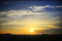今朝の空。朝はモヤっていましたが、今は快晴ですね。 明日天気が悪いなんて信じられない。 a sky in this morning #sky #landscape #morning #sunrise #itsfine #ケサソラ #小春日和 #空 #快晴写真
