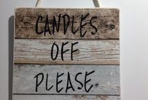 Never forget to turn off your candles again, with this mindful Candles Off Please Sign!