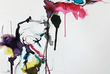 Art aquarelle abstraction