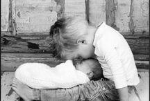 Newborn met broer/zus