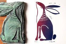 Lino  prints