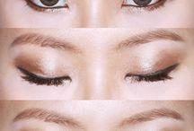 slanting eyes