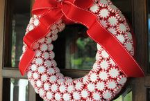 Candy Cane Decorations / Ideas with all things candy cane / peppermints - to help with plans for decorating for our Christmas dinner and ladies Christmas party 2015