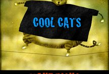 COOL CATS... TAKE RISKS. / Show 'em you'r cool. Whimsical art available on t-shirts, mugs, and more at http://www.davecutlerstudio.com/store