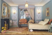 Dollhouse French bedroom 1/12th scale / 1/12th scale build by Dennis Benneker