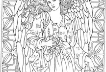 anielskie kolorowanki