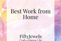 Best Work From Home / The Best Work from Home Ideas, Jobs & Expert Tips.  Bloggers share your best ideas, tips & tricks for working from home. Please limit to 5 pins per day. To join, follow this board and Fifty Jewels. Then email me at FiftyJewelsBlog@gmail.com. ~ Kimberly