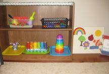 Tot school ideas - on shelves