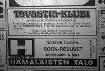 Keikkajulisteita Gig posters / Tavastia. Kulttuuritalo. Menomestat. Ennen. Classic Rockn roll venues in Hellsinki or in the world