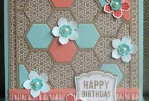 Stampin' Up! - Hexagon Hive Thinlit Die / Projects made with the Hexagon Hive die.