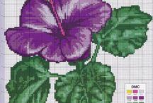 1-Cross stitch flowers/borders