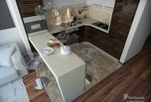 кухня гостиная маленькая