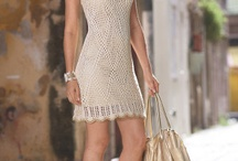 crochet and knitted dresses and skirts