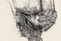 illustration, drawings, paintings