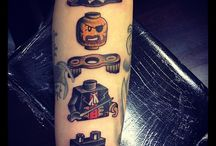 LEGO guy tattoo. I've never seen a tattoo like this. It makes me smile (: