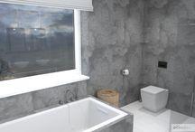 Minimalistická koupelna bez obkladů – RD Kralupy na Vltavou