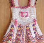 tunus işi kız çocuk elbiseleri