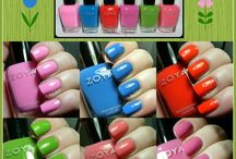 #ZoyaTickled  & #ZoyaBubbly for Summer 2014 /  Zoya Tickled & Bubbly Collections for Summer 2014.  Zoya has released two 6-piece sets, one made up of cremes and one featuring six jelly-based glitters with a iridescent flash.