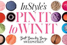 """My Best Beauty Buys / Want to get your hands on some of InStyle's Best Beauty Buys—for free? Here's how: Between April 17, 2015 and May 14, 2015, create a board on Pinterest called """"My Best Beauty Buys"""" and select your top five hair, makeup, nail, or skin-care products by checking out our roundup at InStyle.com/bbb. Make sure each photo caption includes #SweepsEntry. Share the board URL featuring your choices below for a chance to win an editors' selection of the 2015 Best Beauty Buys! #SweepsEntry - 05.14.2015  / by Monica Kim"""