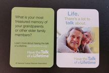 Conversation topics / storytelling, family history