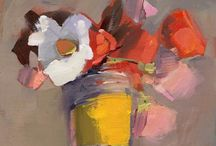 fleurs  en Peinture