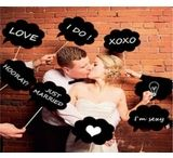 Photoprops and Banners / What a great way to add some fun to your wedding photos. These props will turn dull into fun for your guest.