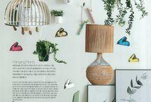 interior magazine collage