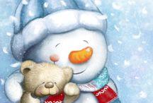 Pupazzi di neve ⛄️❤️