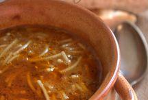 soupes ethniques  et  etrangeres .