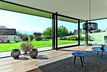 Sliding patio doors / Huge unobstructed glass areas and an effortless sliding mechanism combine to make our sliding doors the perfect solution for rooms with a view. Designed with security and weather resistance in mind, these low maintenance doors offer state-of-the-art performance and stunning aesthetics.