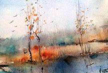 Diverse - Aquarelle + Acrylbilder + Ölblder / Gemälde verschiedenen Maler