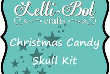 Christmas Candy Skull Stamps / This kit goes with the candy skulls stamp set